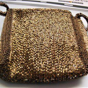 Bronze Hand Beaded Evening Bag